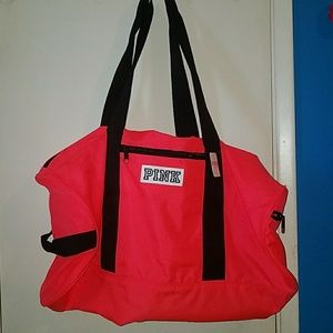 Pink Victoria Secret duffle bag
